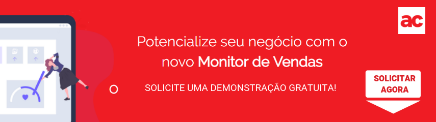 Solicitar demonstração gratuita do monitor de vendas